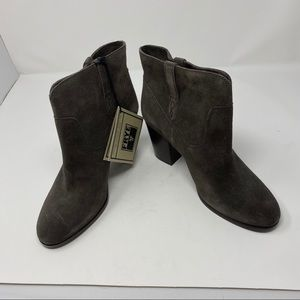 Frye Gray Suede Ankle Booties